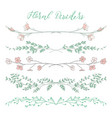 colorful dividers with branches plants and vector image