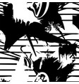 monochrome seamless pattern with ink brush vector image