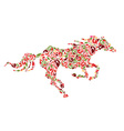 pattern horse vector image vector image