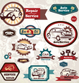 car service retro emblem collection of vintage lab vector image