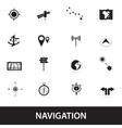 navigation eps10 vector image