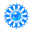 people global world template vector image