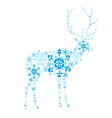 deer snowflakes vector image