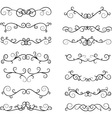 Hand Draw Calligraphic Elements vector image vector image