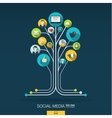 Abstract social media background Growth tree vector image vector image