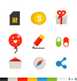 Different flat design web and application vector image vector image