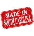 made in South Carolina red square grunge stamp vector image