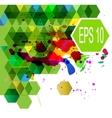 Abstract Hexagonal multicolor vector image