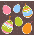 Easter painted colorful eggs discount sale sticker vector image