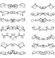 Hand Draw Calligraphic Elements vector image