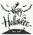 Happy Halloween hand drawn typography vector image