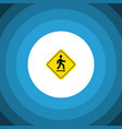 isolated road sign flat icon direction pointer vector image