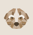 low poly head of the dog vector image