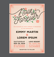 Now and Forever Wedding Invitation vector image
