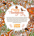 bright Thanksgiving background vector image
