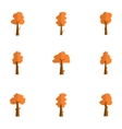 tree set for decoration vector image
