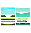 platformer game assetsset of game elements vector image