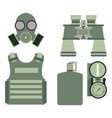 military body armor symbols armor set forces vector image