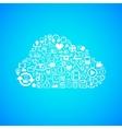 Computer cloud icon vector image