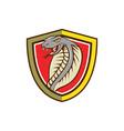Cobra Viper Snake Head Attacking Shield Cartoon vector image vector image