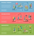 Physiotherapy Rehabilitation Banners vector image