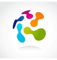social network abstract icon vector image