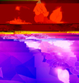 Glitch art background vector image vector image