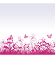 floral background with butterflies vector image vector image