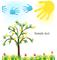 Abstract hand tree Background vector image