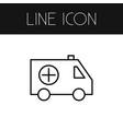 isolated ambulance outline emergency vector image