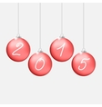 Red Christmas balls 2015 vector image