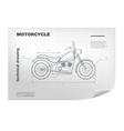 Technical wireframe with motorbike vector image