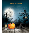 Scary Halloween background with a old paper vector image