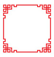china border frame vector image vector image