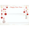 New Year decorations on a card design vector image vector image