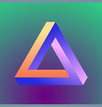 mobius triangle figure vector image vector image