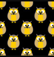 tile pattern with owls on black background vector image