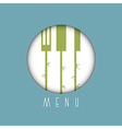 Stylish restaurant menu design in asian style vector image