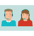 flat call center operators vector image vector image