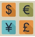 icons of money vector image vector image