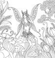 fairy in forest vector image
