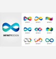 colorful abstract infinity endless icon vector image