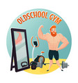 gym school design concept vector image