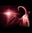 Red satan holding a burning torch vector image