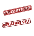 Two red realistic Christmas sale stamps vector image