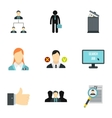 Work icons set flat style vector image