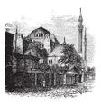Hagia Sophia vintage engraving vector image vector image