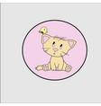 little pretty cat vector image