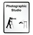 Photographic Studio Information Sign vector image