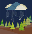 autumn rain from cloud vector image vector image